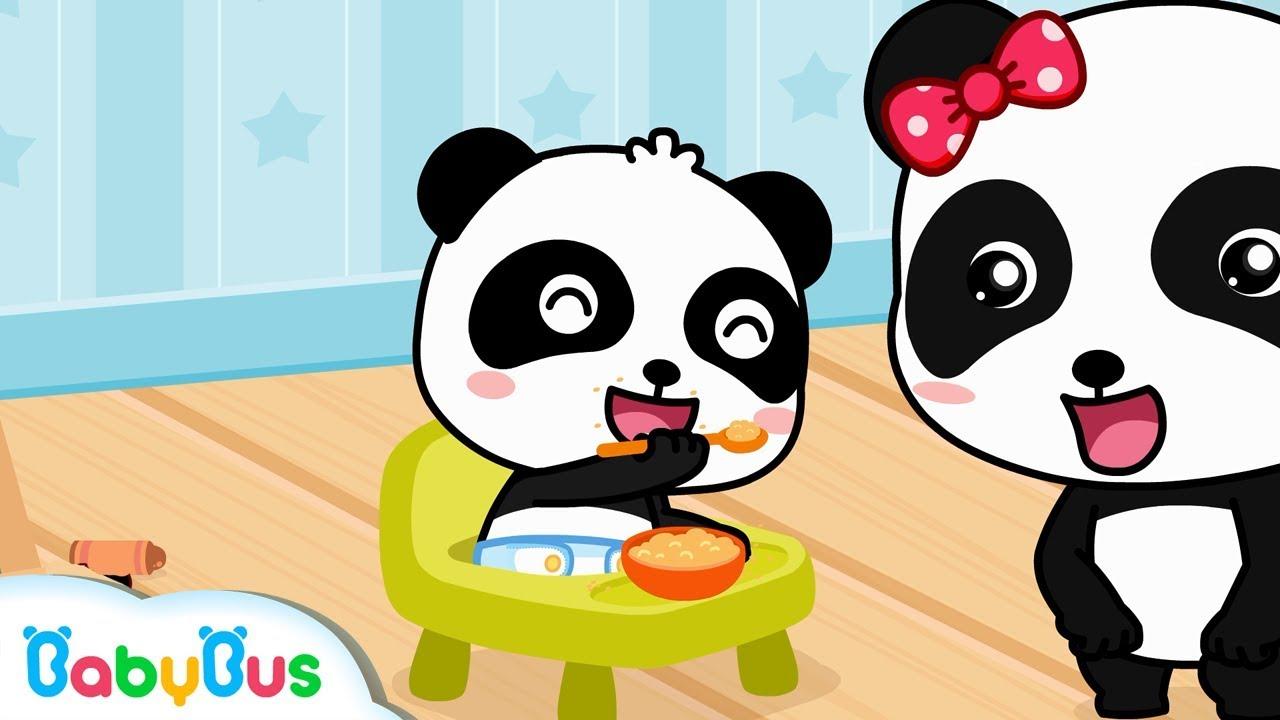 Little Panda Feeds Panda Miumiu Baby Panda Care Kids