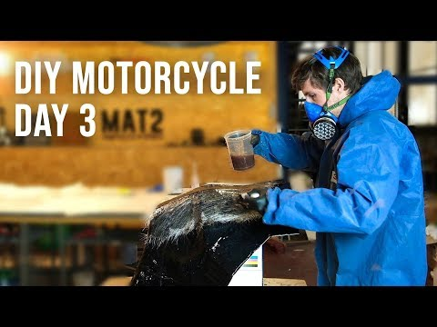 Making a Carbon Fiber Motorcycle Rally Fairing - DAY 3