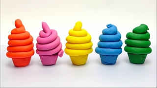 Play-Doh Ice Cream Cups with Disney Minnie Mouse, Garfield, Flash
