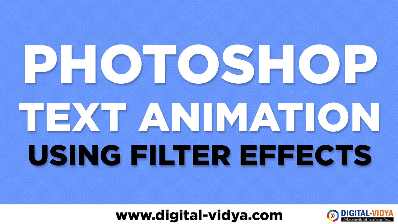 Photoshop Text Animation Tutorial - Using FILTERS (WIND ...