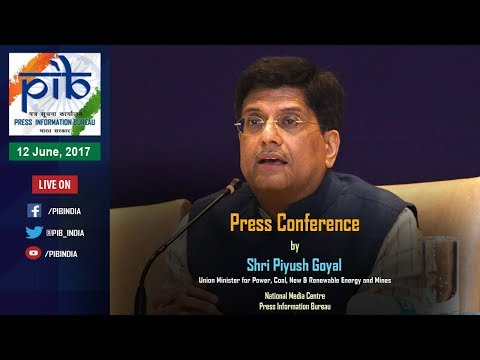 Press Conference by Union Minister Piyush Goyal on Key Initiatives during 3 Years of Govt