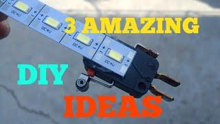 3 AMAZING DIY IDEAS WITH LED STRIP.