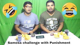 Samosa & Pepsi Drink Eating Competition   Samosa Eating Challenge    Special Punishment