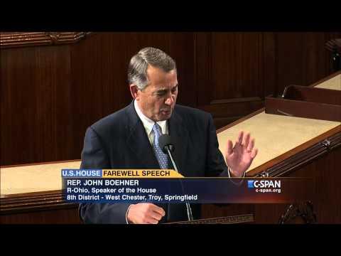 Speaker John Boehner (R-OH) Farewell Address (C-SPAN)