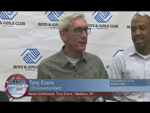 News Conference: Gov. Elect Tony Evers Makes Remarks on Tuesday's Election Victory
