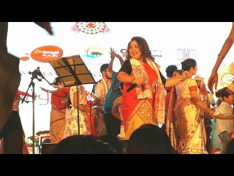 Assam Association Gurgaon Rongali Bihu 2017 performance by Tanvi Sharma & Barnali Kalita