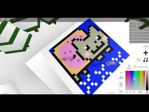 How To Make Nyan Cat In Roblox Pixel Paint Youtube - roblox pixel art yum it is a donut