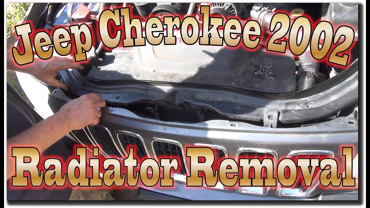 Cherokee For Less >> Jeep Cherokee 2002 Radiator Removal - YouTube