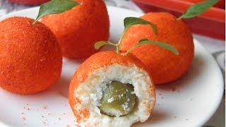 Сырные шарики с оливками в паприке