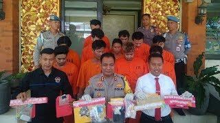 Download Video Polresta Denpasar Amankan 11 Orang Tersangka Pengedar Narkotika MP3 3GP MP4