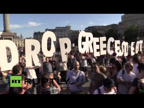 LIVE: London holds anti-austerity demo in solidarity with Greece