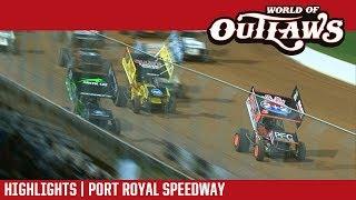 World of Outlaws Craftsman Sprint Cars Port Royal Speedway October 14, 2017 | HIGHLIGHTS