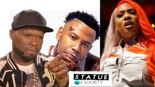 50 cent Disses Megan Thee Stallion Moneybagg Yo Checks Him