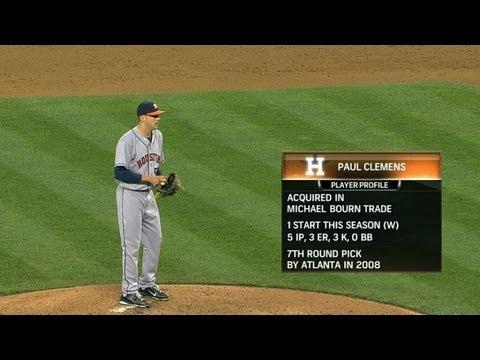 Clemens wins MLB debut