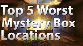 Top 5 Worst Mystery Box Locations In 'call Of Duty Zombies' - Black Ops 2 Zombies, Bo & Waw