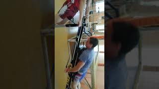 Гиревой спорт.После кросса тренажёр лыжников адаптирован к гиревикам.
