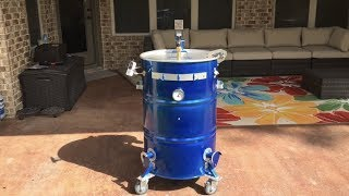 Ugly Drum Smoker, Anodized Blue Paint