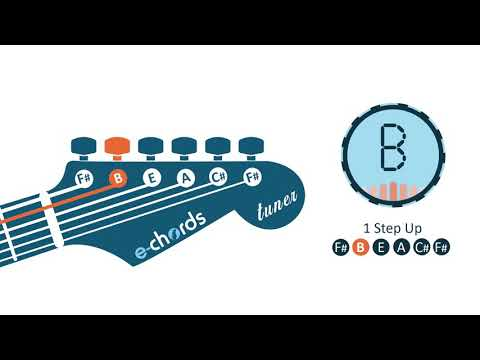 Video E Chords Guitar Tuner One Step Up Tuning F B E A C F