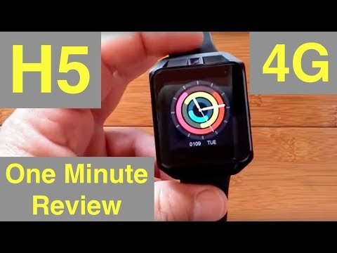 Microwear H5 Android 6 Smartwatch With 4G Cellular: One Minute Overview