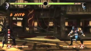 Mortal Kombat 9 - Noob Saibot обучение + комбо