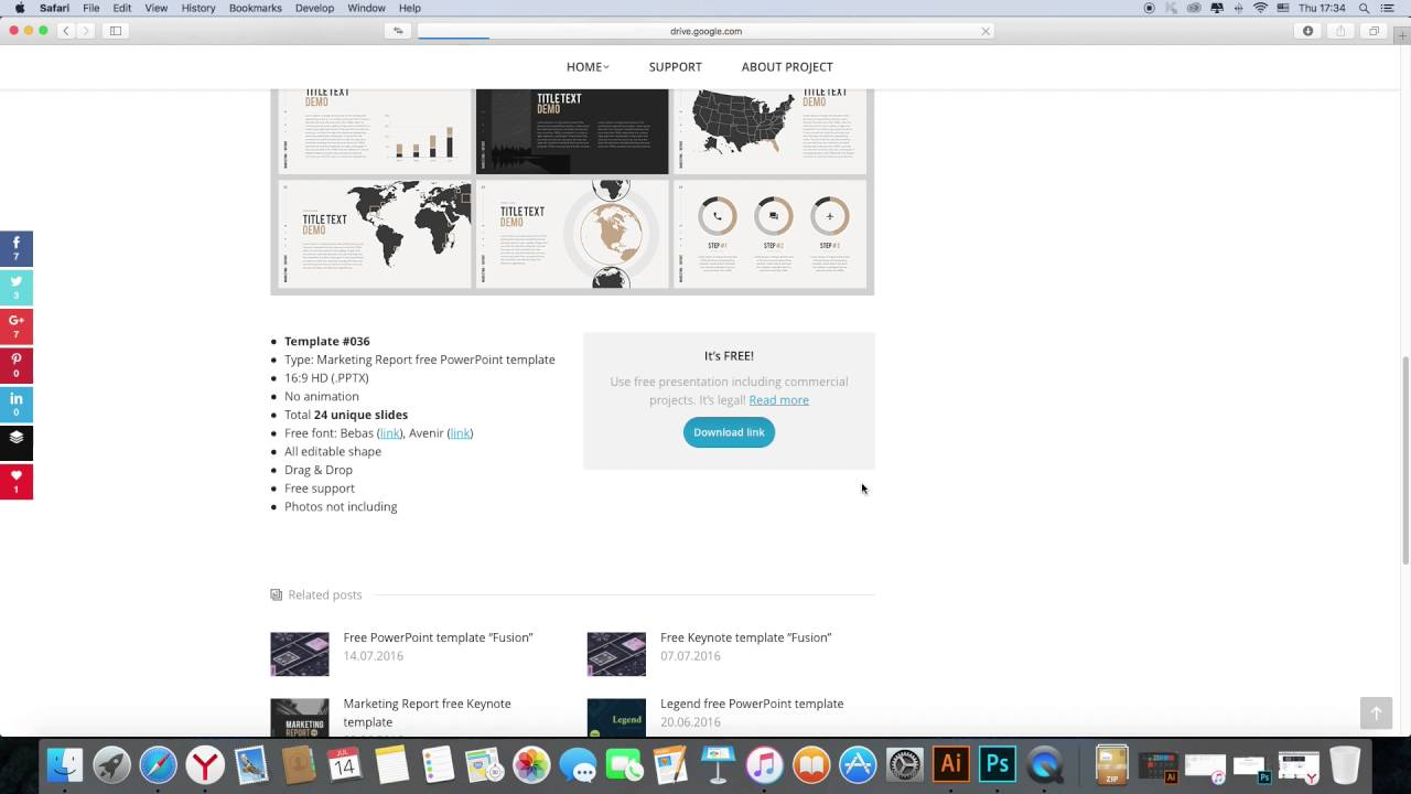 how to download free presentation template powerpoint or keynote, Powerpoint templates