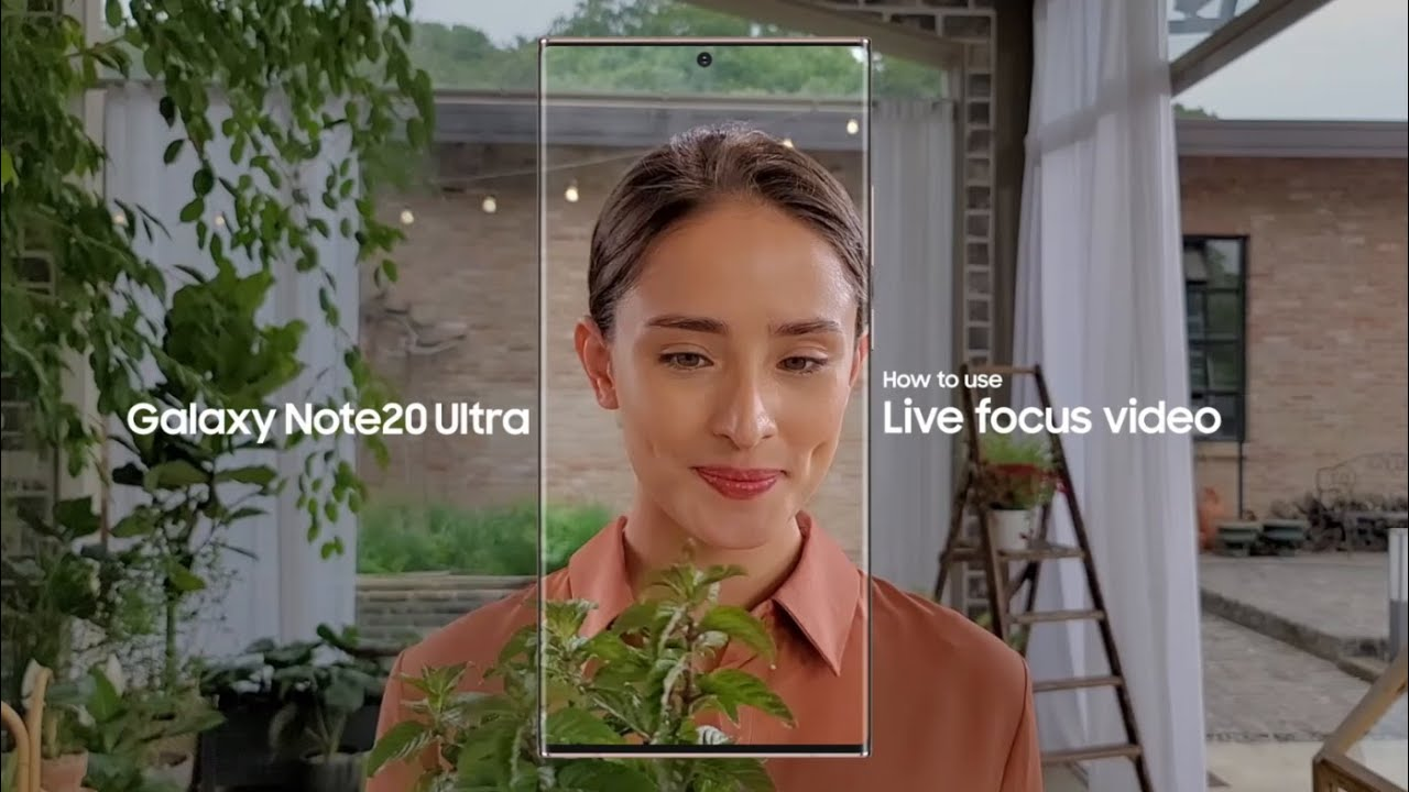 Galaxy Note20 Ultra: How to use Live focus video | Samsung