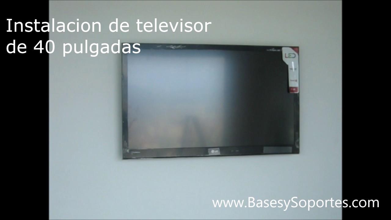 Instalacion Televisor LG de 40 Pulgadas en pared de