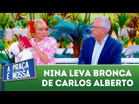 Nina leva bronca de Carlos Alberto | A Praça é Nossa (16/08/18)