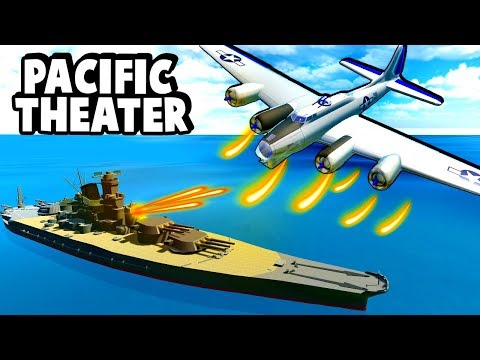 B-17 Flying Fortress Destroys the Yamato Battleship in Ravenfield!