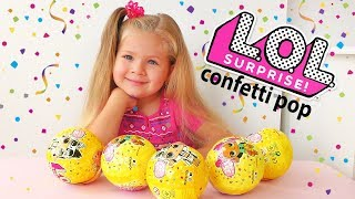 L.O.L. Surprise! Series 3 Confetti Pop Tots Dolls Unboxing Balls with Diana