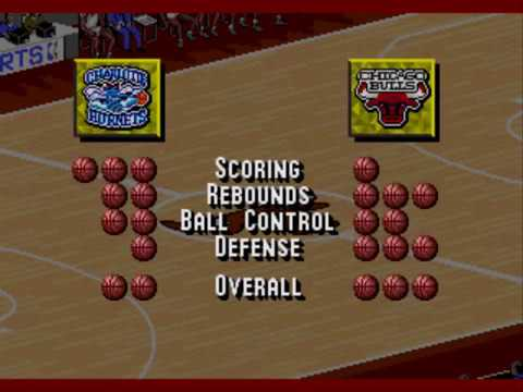 NBA Live 95-Charlotte Hornets vs Chicago Bulls