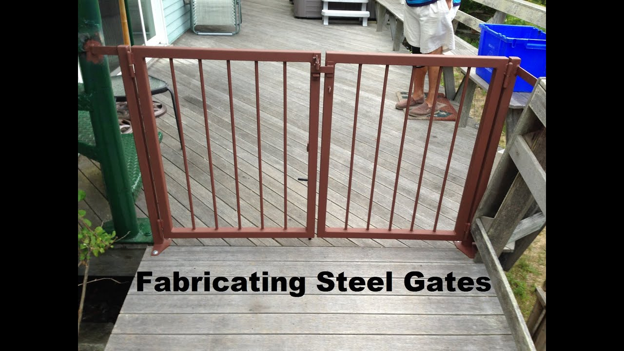 your trex how install to gates on youtube porch gate watch deck a
