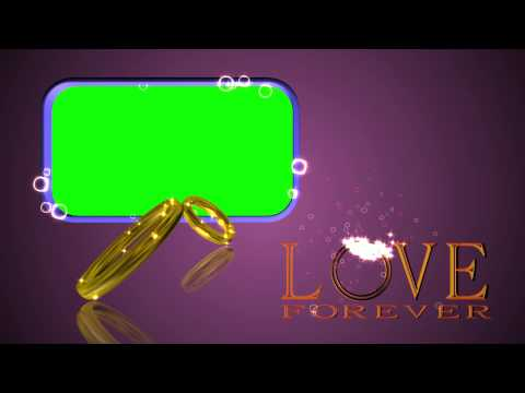 Wedding Rings Green Screen LOVE FOREVER Background Video Effect Footage AA VFX thumbnail
