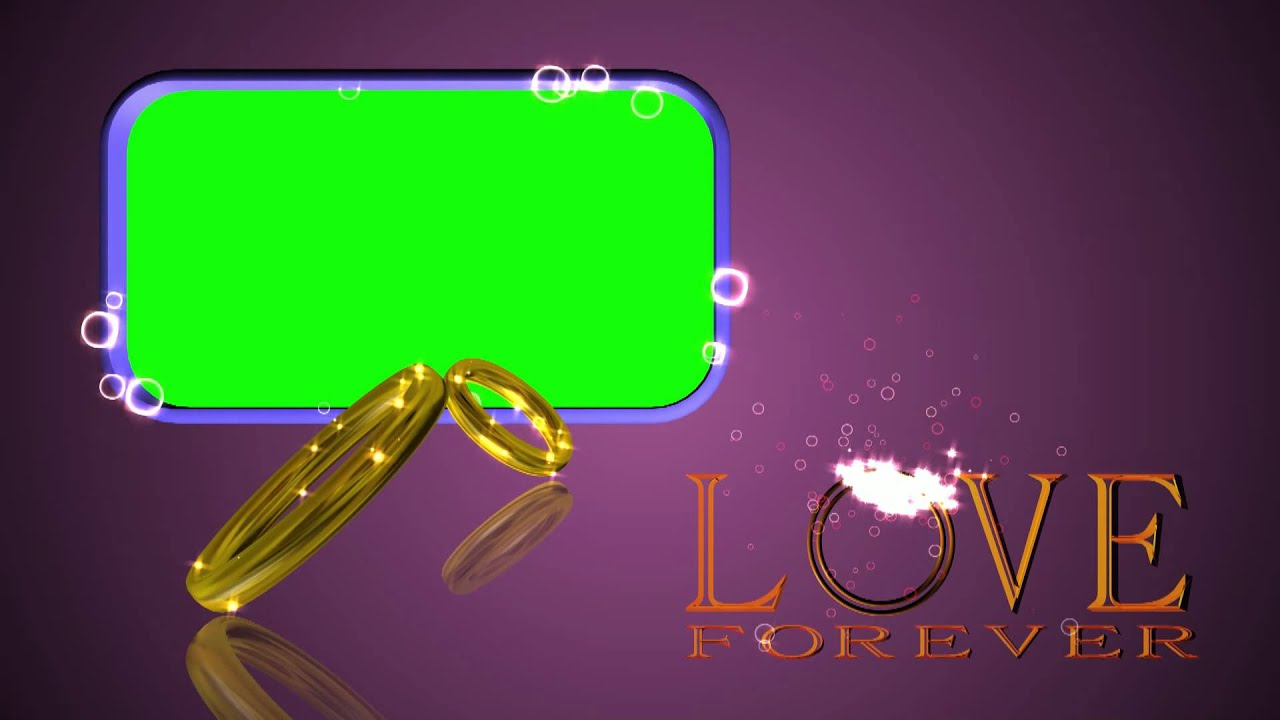 Wedding Rings Green Screen Love Forever Background Video Effect Footage Aa Vfx You