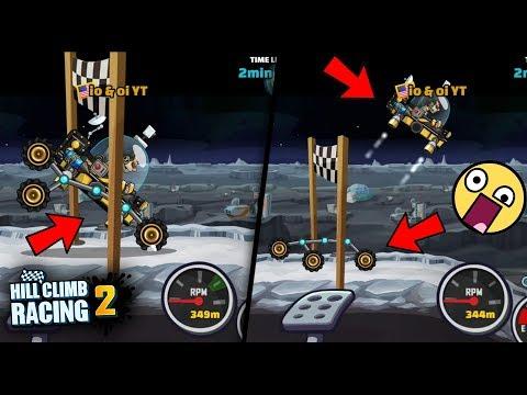 Hill Climb Racing 2 - Moonlander Flying Trick 😍