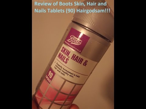 Review of Boots Hair Skin and Nails Tablets
