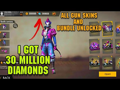FREE 30MILLION DIAMONDS ALL BUNDLES AND WEAPON UNLOCKED