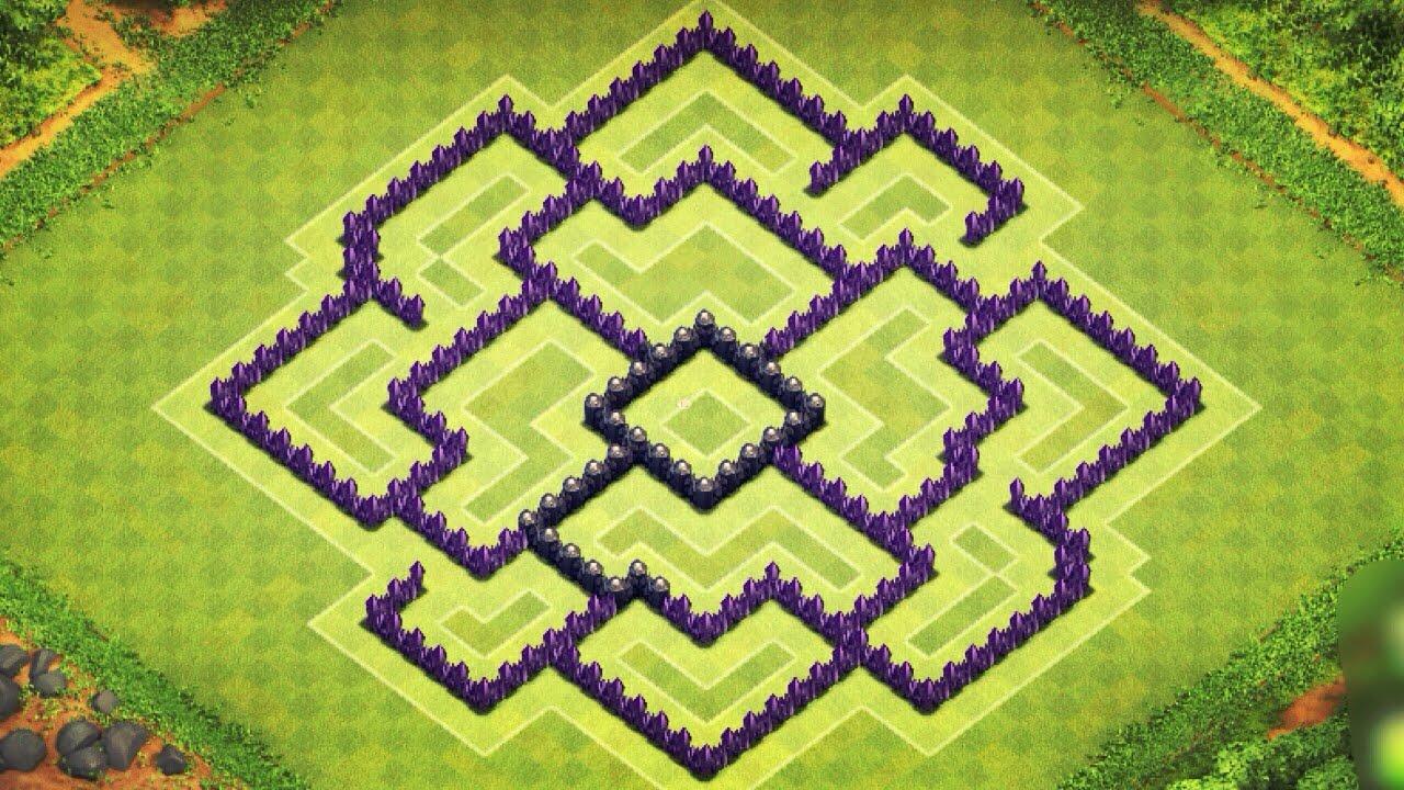 Clash of clans best th8 trophy clan wars base arc speedbuild