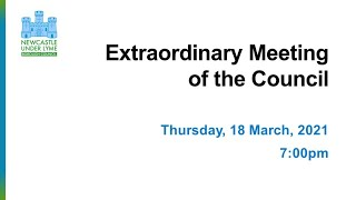 Extraordinary Meeting of the Full Council 18/03/2021