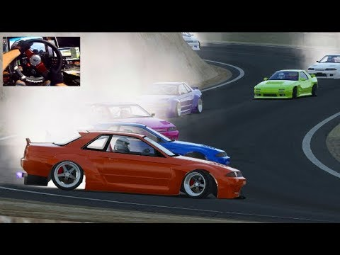 Late Night Reverse Entries & Cold Beer- Assetto Corsa PC GoPro