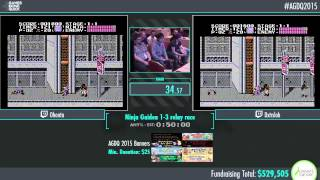 Awesome Games Done Quick 2015 - Part 127 - Ninja Gaiden Relay Race by Team Kappa and Team FrankerZ