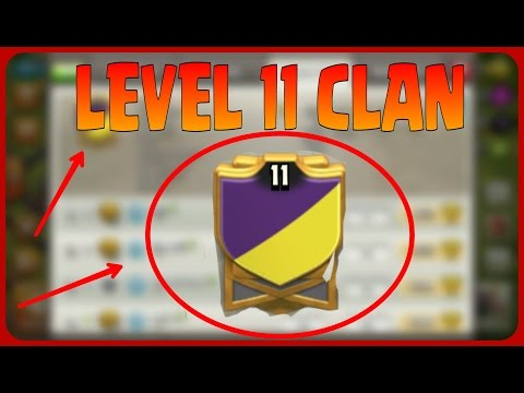 ♦ CLASH OF CLANS ♦  FIRST LEVEL 11 CLAN ♦  PROOF ♦ CLAN TAG♦