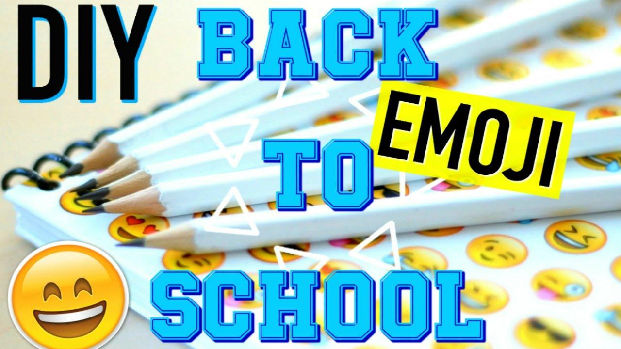 diy back to school facile fournitures scolaires emoji fran ais youtube. Black Bedroom Furniture Sets. Home Design Ideas
