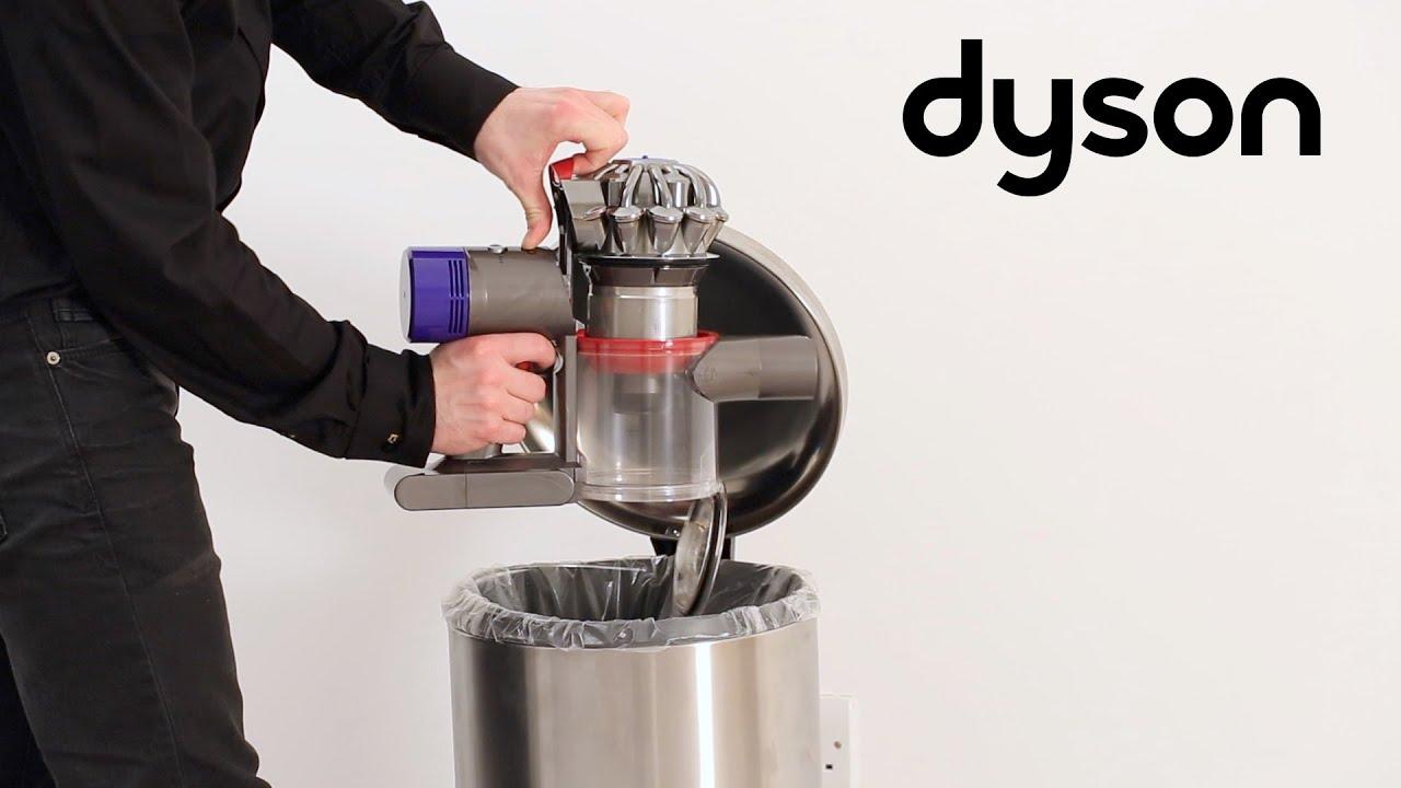 Dyson V8 Cord Free Vacuums Emptying The Bin Ca Youtube