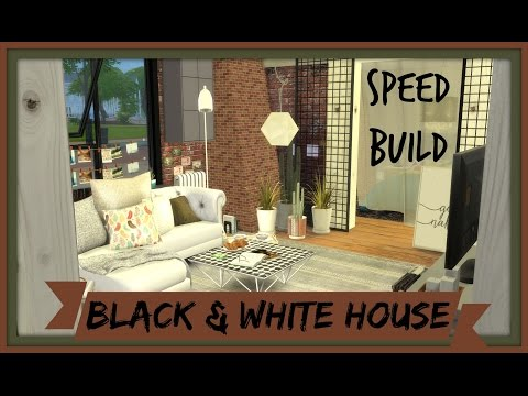 Sims 4 - Speed Build - Black and White House