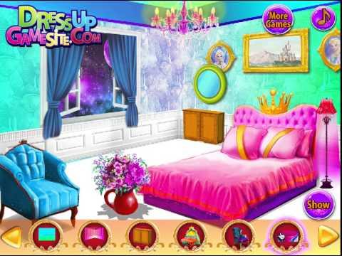 Juego decorar habitaci n de elsa youtube for Dormitorio animado