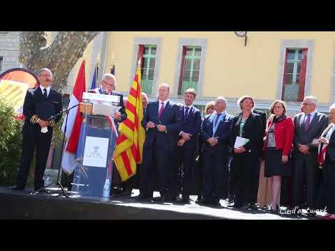 Visite Officielle de SAS le Prince Albert II de Monaco à Prats de Mollo le 6 avril 2018