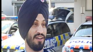 First Operational Sikh Police Officer in NewZeland Police,
