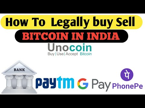 Legal Way  Buy Or Sell BITCOIN In India Just  Few Minutes, Unocoin
