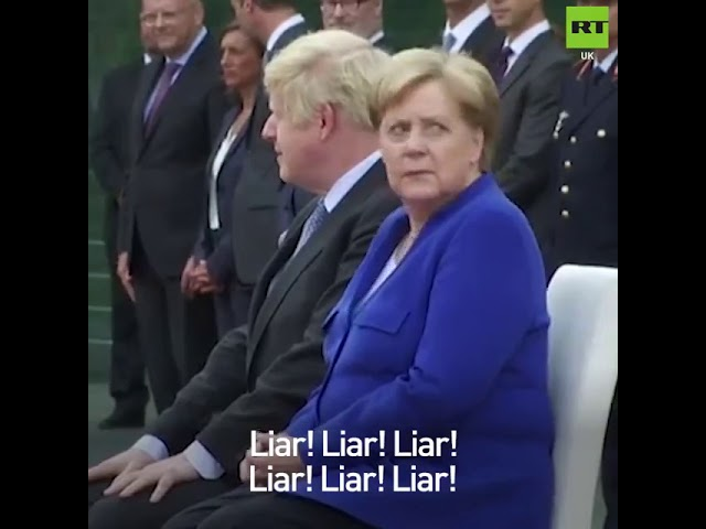 Boris Johnson receives boos & shouts of 'liar' & 'stop Brexit' during meeting with Merkel